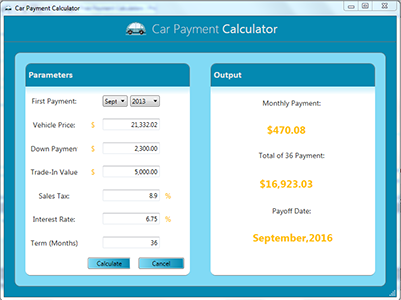 Free Payment Calculators – Auto Payment Calculator
